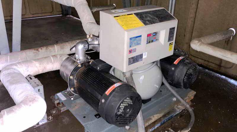 [東京都清瀬市]給水ポンプユニットの交換工事