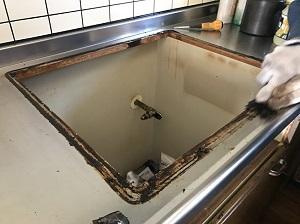 ビルコン設置個所の汚れ
