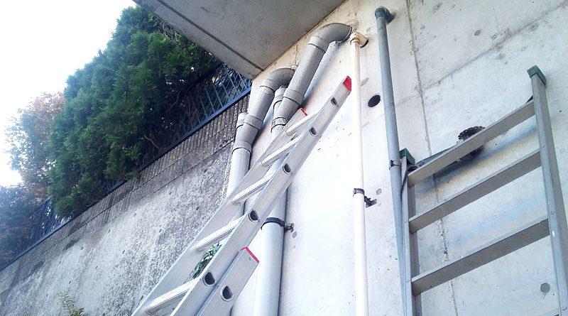 [横浜市栄区]屋外露出排水管の交換工事