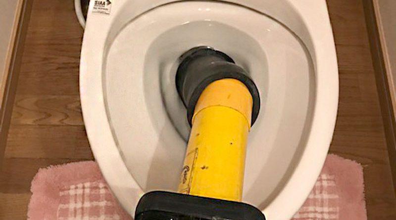 [埼玉県坂戸市]トイレの詰まり抜き作業